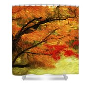 Fall At The Temple Shower Curtain