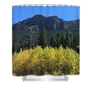 Fall At Twin Sisters Shower Curtain