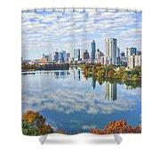 Fall Austin Skyline Shower Curtain