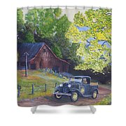 Fall Barn  Shower Curtain