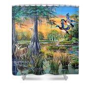 Fall Bounty- Big Cypress Swamp  Shower Curtain