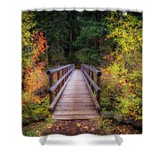 Fall Bridge Shower Curtain
