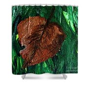 Fall Brown Leaf Shower Curtain