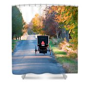 Fall Buggy Shower Curtain