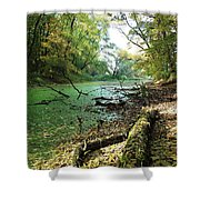Fall By A River Shower Curtain