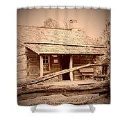 Fall Cabin Shower Curtain