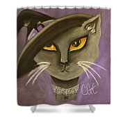 Fall Cat Shower Curtain
