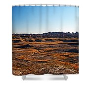 Fall Color In The Badlands Shower Curtain