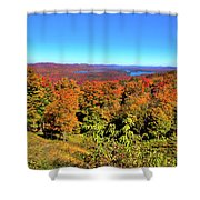 Fall Color On The Fulton Chain Of Lakes Shower Curtain
