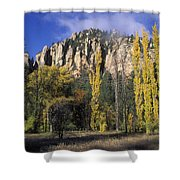 Fall Colors And Red Rocks Near Cave Shower Curtain