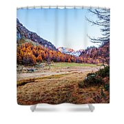 Fall Colors At Alpe Devero Shower Curtain