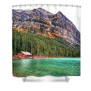 Fall Colors At Lake Louise Alberta  Shower Curtain