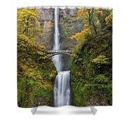Fall Colors At Multnomah Falls Shower Curtain