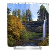 Fall Colors At South Falls Shower Curtain