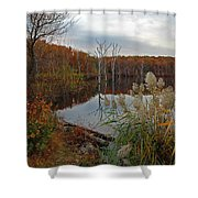 Fall Colors At The Reservoir Shower Curtain