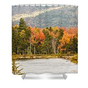 Fall Colors By The Lake Shower Curtain