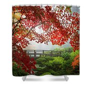 Fall Colors By The Moon Bridge Shower Curtain
