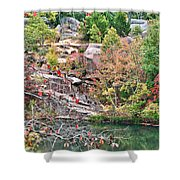 Fall Colors In Depth Shower Curtain