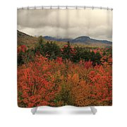 Fall Colors In White Mountains New Hampshire Shower Curtain