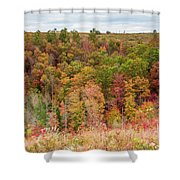 Fall Colors On Hillside Shower Curtain
