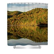 Fall Colors On Lake Reflection Shower Curtain
