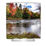 Fall Colors On The Moose River Shower Curtain