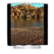 Fall Colors On The Rio Grande 1 Shower Curtain