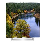 Fall Colors On The River Shower Curtain
