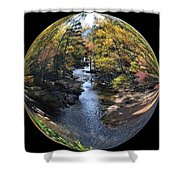 Fall With A Twist Shower Curtain