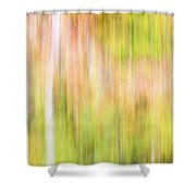 Fall Colours Abstract, Oxtongue River, Algonquin Highlands Shower Curtain