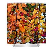 Fall Crab Apples Shower Curtain