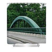 Fall Creek Gorge Bridge Cornell University Ithaca New York Shower Curtain