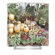Fall Decorating At The Market Shower Curtain