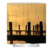 Fall Docks Marker Shower Curtain