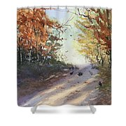 Fall Early Morning Shower Curtain