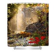 Fall Falls Mist  Dead River Falls  Marquette Mi Shower Curtain