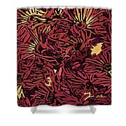 Fall Fantasy Flowers Shower Curtain
