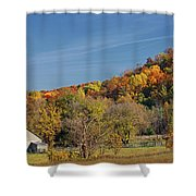 Fall Farmyard Shower Curtain