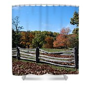 Fall Fence Shower Curtain