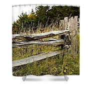 Fall Fencing Shower Curtain