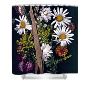 Fall Floral Collage Shower Curtain
