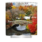 Fall Foliage In Central Park Shower Curtain