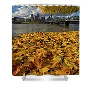 Fall Foliage In Portland Oregon City Shower Curtain
