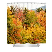 Fall Foliage In The Mountains Shower Curtain