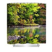 Fall Foliage Reflection Shower Curtain