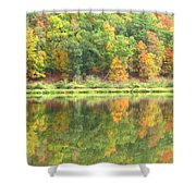 Fall Forest Reflection Shower Curtain