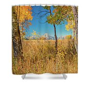 Fall From Oxbow Bend In Grand Tetons Shower Curtain