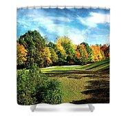 Fall Golf Course Beauty Shower Curtain