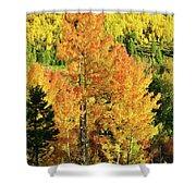 Fall Hillsides Above Dillon Reservoir Shower Curtain