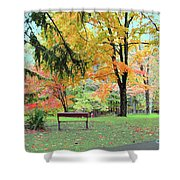 Fall In Brown County Shower Curtain